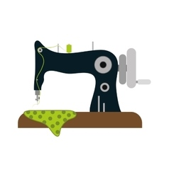 Isolated sewing machine vector image vector image