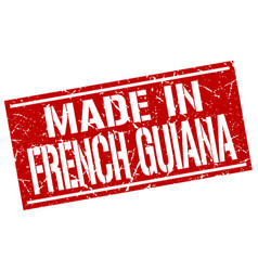 Made in french guiana stamp vector