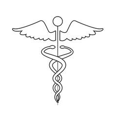 Medical caduceus health care symbol vector