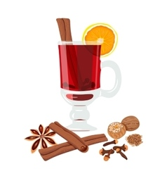 Mulled wine set vector