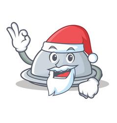 Santa tray character cartoon style vector