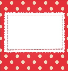 Scrap card with polka dot and frame vector image vector image