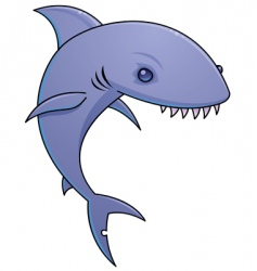 sharky vector image