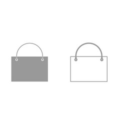 shopping bag it is icon vector image