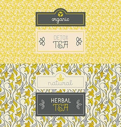 Tea packaging design elements vector image vector image