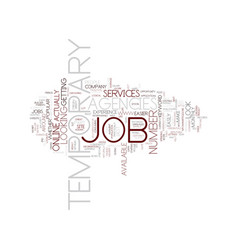 Temporary job agencies text background word cloud vector