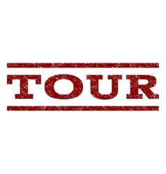 Tour watermark stamp vector