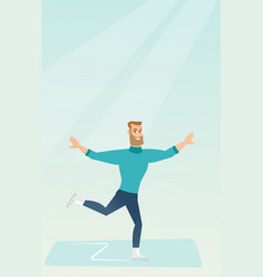 young caucasian male figure skater vector image