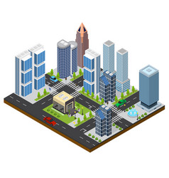 city landscape isometric view vector image
