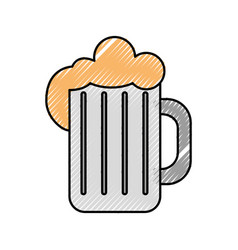 Beer jar isolated icon vector
