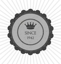Grey creative sticker vector image