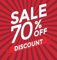 Sale 70 percent off discount vector