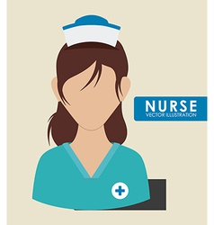 Nurse woman vector