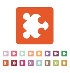 The puzzle icon jigsaw and toy symbol flat vector