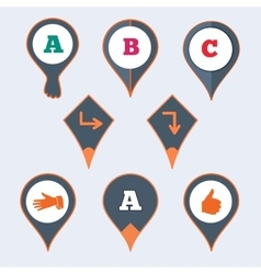 Location marker cursor pointer icon set vector