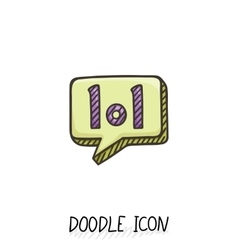 Doodle chatting icon Text bubble vector image