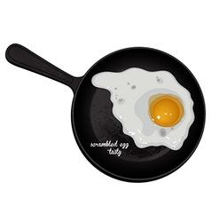 scrambled eggs tasty vector image