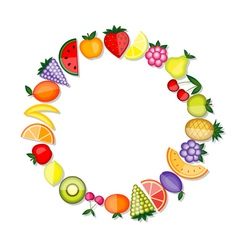 Energy fruits frame for your design vector image