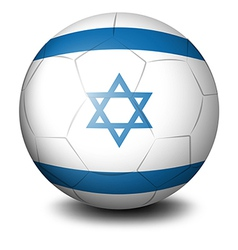 A soccer ball with the flag of Israel vector image vector image