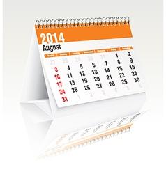 August 2014 desk calendar vector