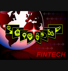 background in financial technology vector image vector image