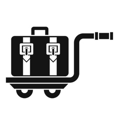 Baggage cart icon simple style vector