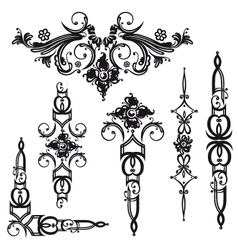 Baroque flowers vector image vector image