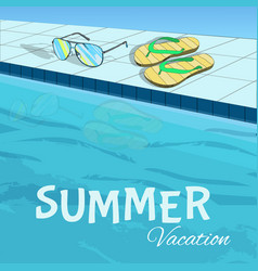 Bright colorful summer holiday template vector