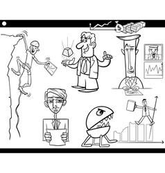 business cartoon concepts and ideas set vector image vector image
