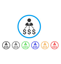businessman expenses rounded icon vector image vector image