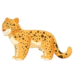 Cartoon smiling Leopard vector image