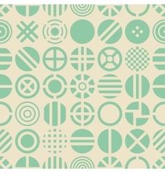 Circle seamless pattern vector