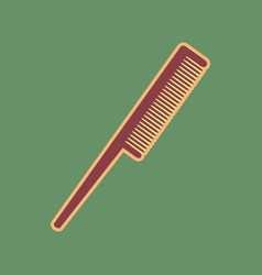 Comb sign cordovan icon and mellow vector