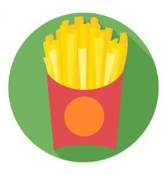 Digital potatoe french fries chips vector image