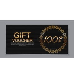 Gift Voucher Template for Discount Coupon vector image vector image