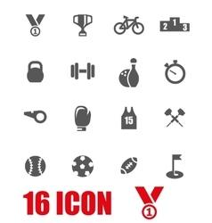 grey sport icon set vector image vector image