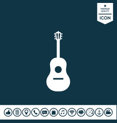guitar symbol icon vector image
