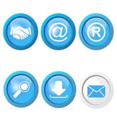 internet icons set vector image