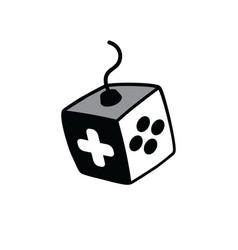 Joystick logo - video game console logotype vector