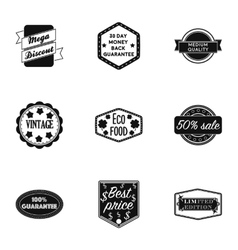 Label set icons in black style Big collection of vector image vector image