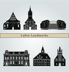 lubin landmarks vector image vector image