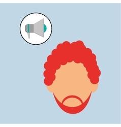 Man design media icon flat vector