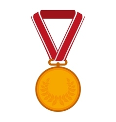 medal gold golden icon vector image