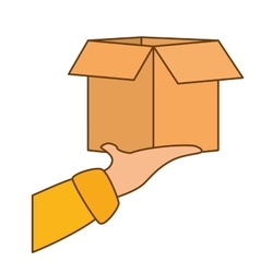 Package delivery fast food icon vector