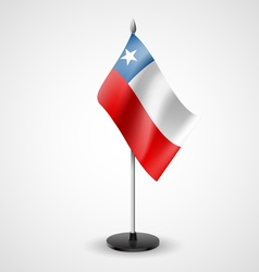 Table flag of chile vector