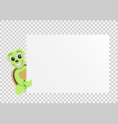 Turtle paper transparent vector