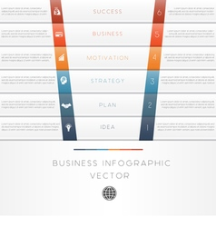 Template infographic strips 6 position vector