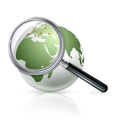 Globe zoom vector