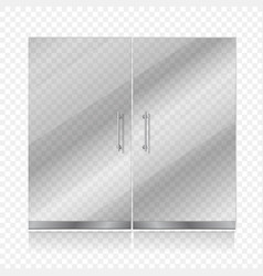 Transparent glass door isolated vector image