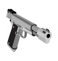 Realistic hand gun isolated on white background vector